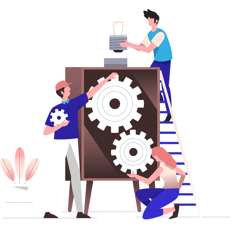 website maintenance workers illustration